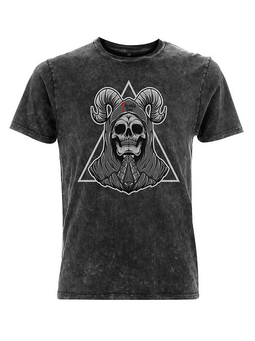 Vintage Praying Skull Tattoo Streetwear T-shirt