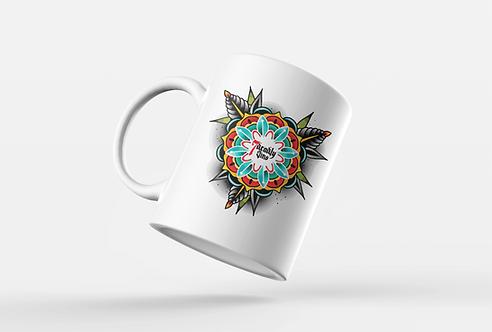 Rose Mandala Printed Mug