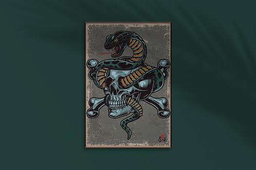 Snake & Skull Print