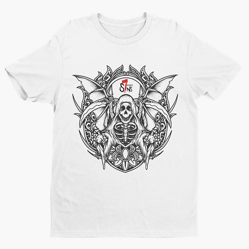 Ornate Reaper Tattoo Inspired Alternative Streetwear T-shirt