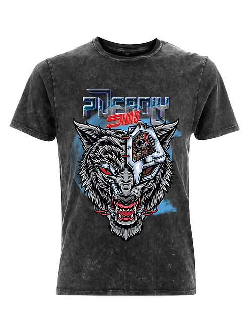 Vintage Cyber Wolf Alternative Streetwear T-shirt