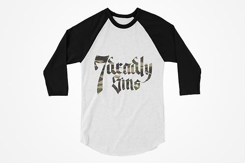 7 Deadly Sins Camo Logo Raglan T-shirt
