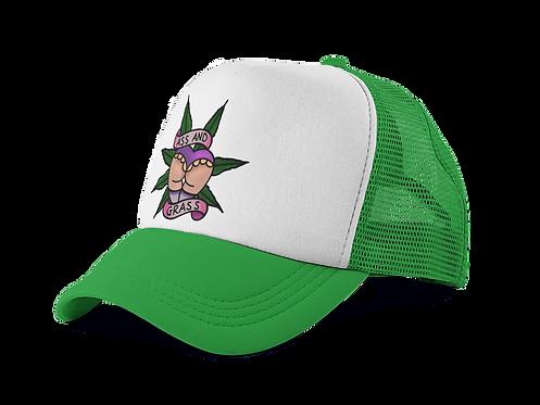 Ass n Grass Green Trucker Hat