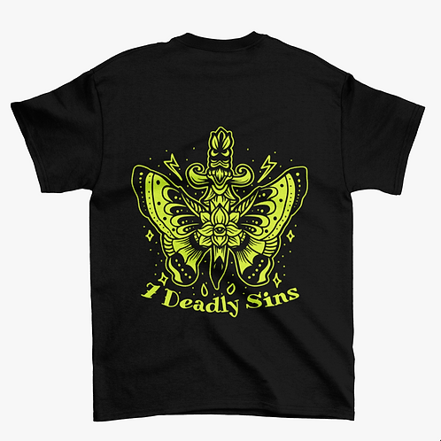 Neon Butterfly Tattoo Streetwear T-shirt