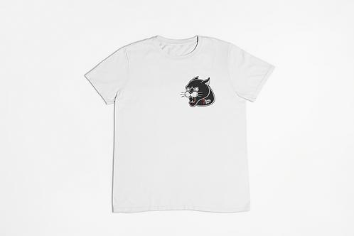 Panther Tattoo Print White T-shirt