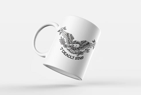Eagle & Flowers Tattoo Print Mug