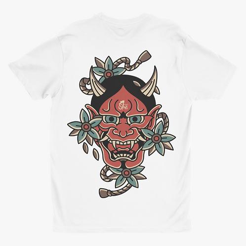 Hannya Mask Tattoo Inspired Streetwear T-shirt