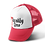 Red Trucker Hat with 7 Deadly Sins Logo