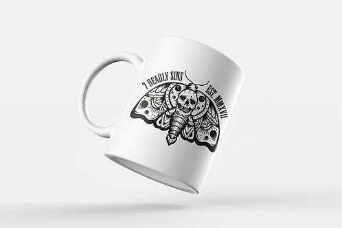 SkullMoth Tattoo Print Mug