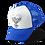 Heart of Skulls Trucker Hat Blue