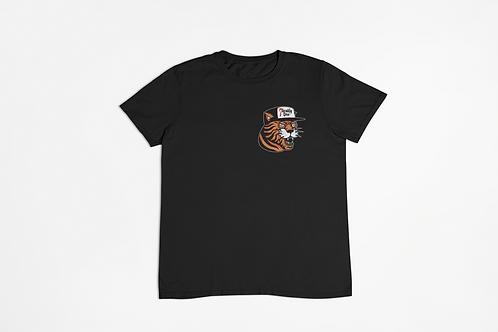 Tiger Hat Tattoo Print Black T-shirt