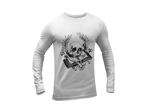 Book of Mortality Print T-shirt in White