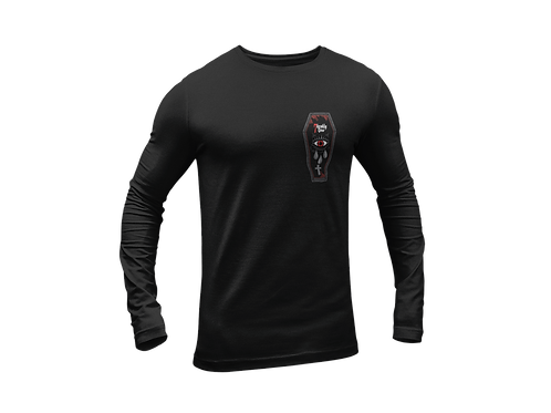 Coffin Tattoo Logo Long Sleeve Black T-shirt