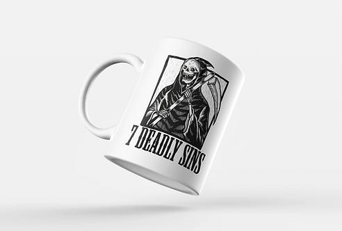 7 Deadly Sins Reaper Tattoo Print Mug