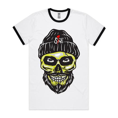 Anchor Skull Tattoo Inspired Streetwear Ringer