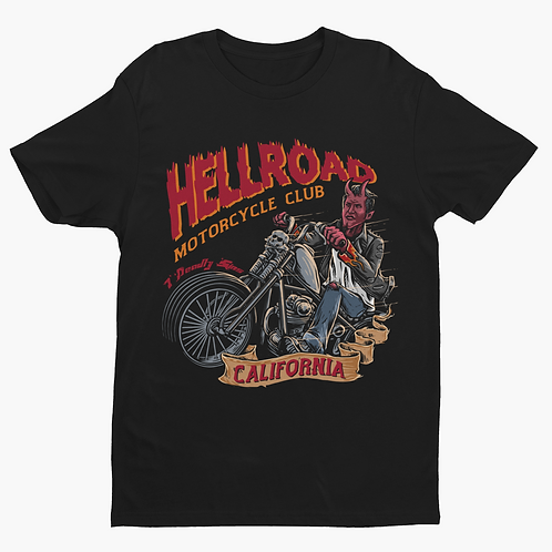 Hellroad Motorcycle Alternative Streetwear T-shirt