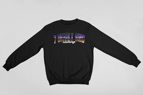 7DSC Block Text Logo Streetwear Sweater