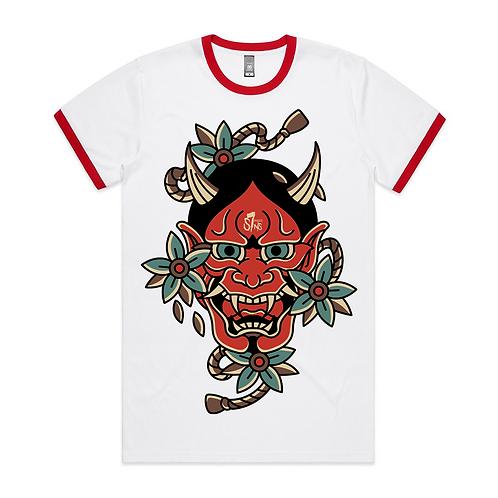 Hannya Mask Tattoo Inspired Streetwear Ringer