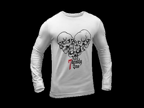 Heart of Skulls Long Sleeve T-shirt - Tattoo Clothing