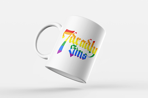 Pride Logo Mug by 7 Deadly Sins Clothing