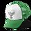 Heart of Skulls Trucker Hat Green