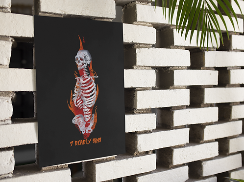 Lit Bones Print