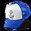 Anchor Skull Trucker Hat Blue