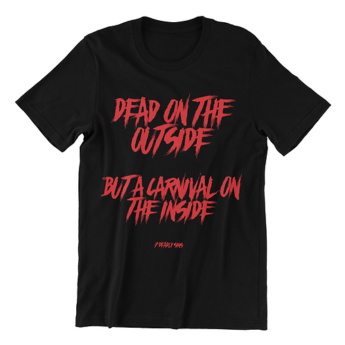 Dead On The Outside Goth T-shirt