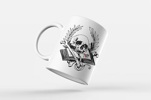 Book of Mortality Tattoo Print Ceramic Mug