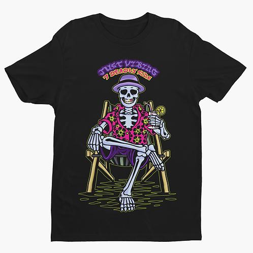 Just Vibing Skeleton Tattoo Streetwear T-shirt