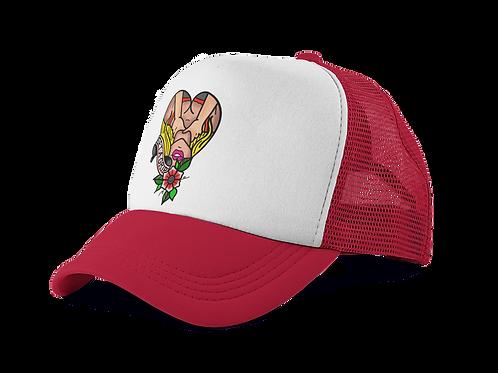 Get A Grip Red Trucker Hat