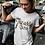 Leopard Logo Unisex White T-shirt Large Front Print