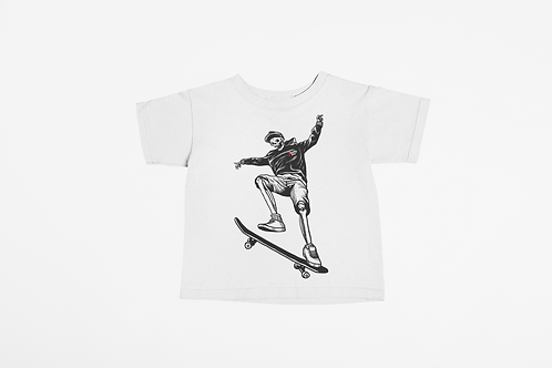 Skateboarding Skeleton Kids T-shirt