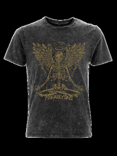 Vintage Meditating Angel Alternative Streetwear T-shirt