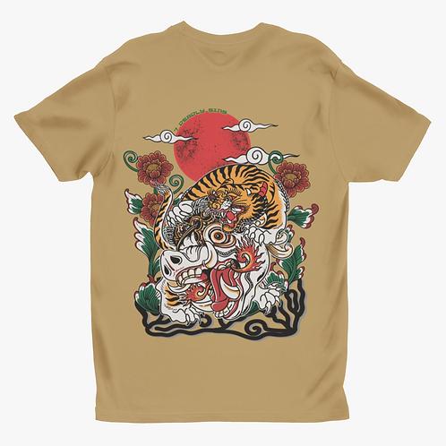 Balinese Tiger Tattoo Inspired Alternative Streetwear T-shirt