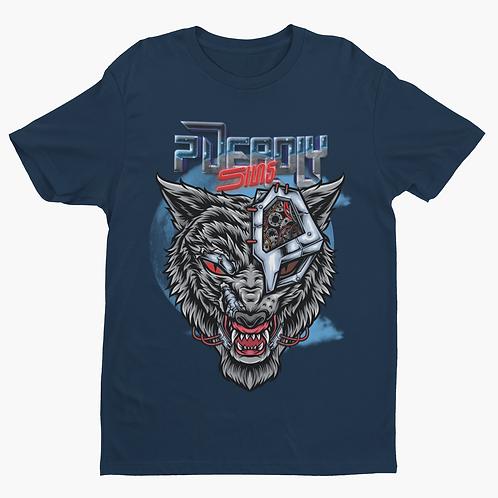Cyber Wolf Tattoo Alternative Streetwear T-shirt