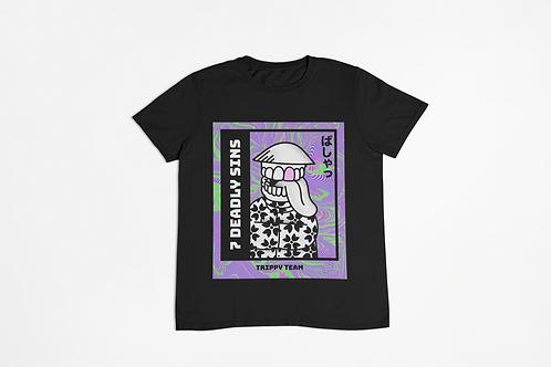 Trippy Team Black Unisex T-shirt Large Front Print