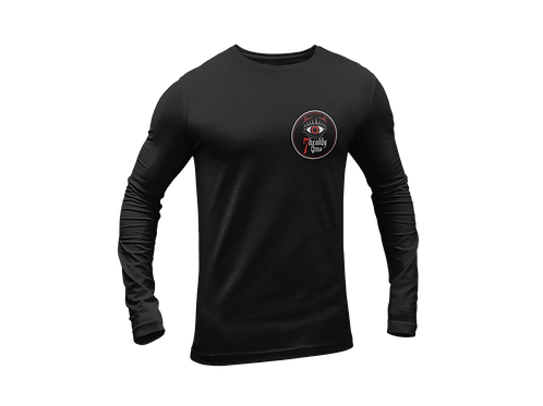 All Seeing Eye Black T-shirt Long Sleeves