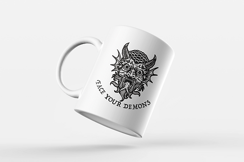 Face Your Demons Tattoo Print Mug