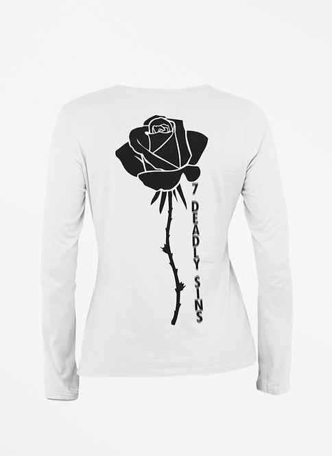 Black Rose Long Sleeve T-shirt