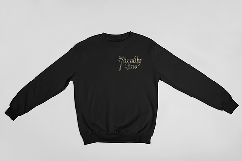 Camo Pocket Logo Sweat in Black by 7 Deadly Sins Clothing