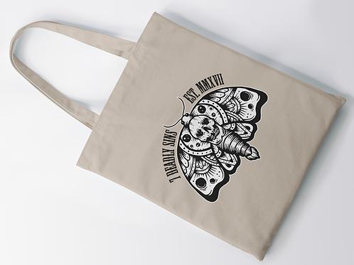 SkullMoth Tattoo Print Tote Bag