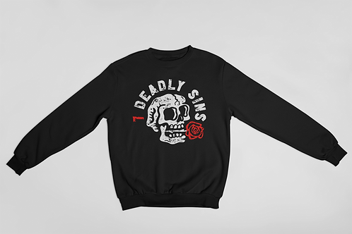 Skelly Rose Tattoo Inspired Sweater