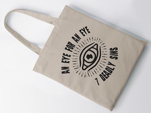 An Eye For An Eye Printed Tote Bag