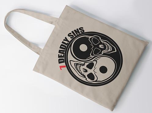 Ying & Yang Skulls Tote Bag