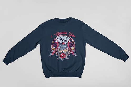 Traditional Parrot Tattoo Streetwear Sweater