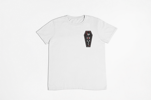 7 Deadly Sins Coffin White T-shirt
