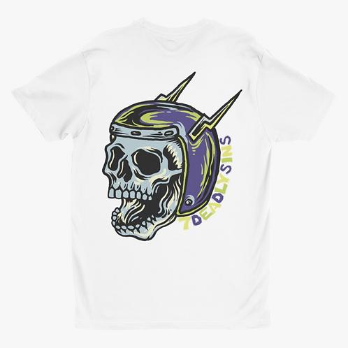 Helmet Skull Tattoo Inspired Biker Graphic Tee