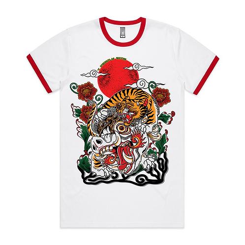 Balinese Tiger Tattoo Inspired Streetwear Ringer