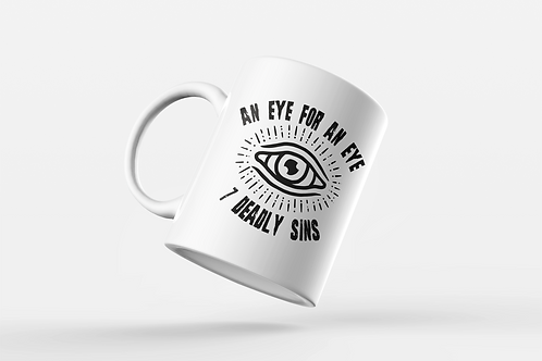 An Eye For An Eye Tattoo Print Mug